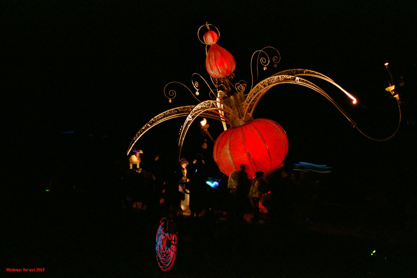 Chandelier at Night