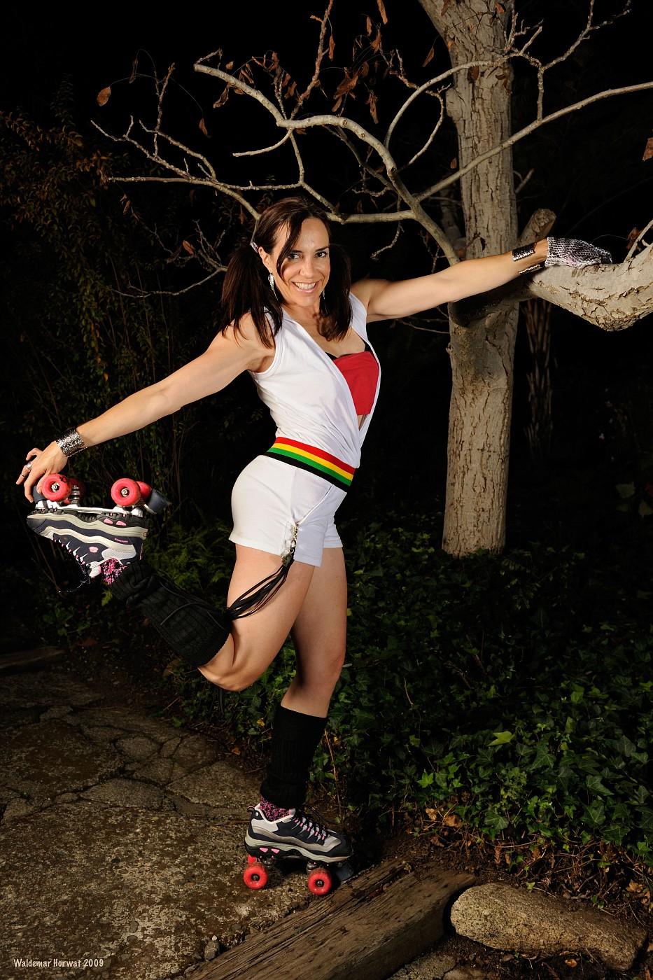 Beth on Roller Skates