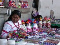 Huichol woman. We bought a couple of pieces from her