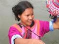 Sales Girl during river raft.