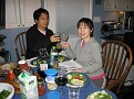 Hiromi and Soji back at my place for dinner   We had a great day!