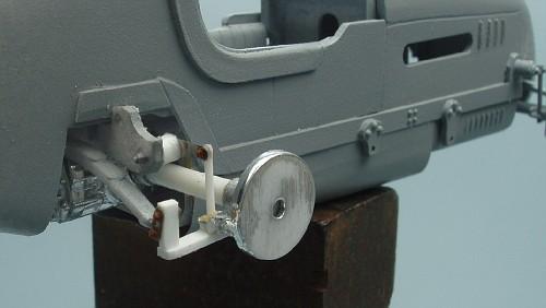 The rebuilt rear suspension