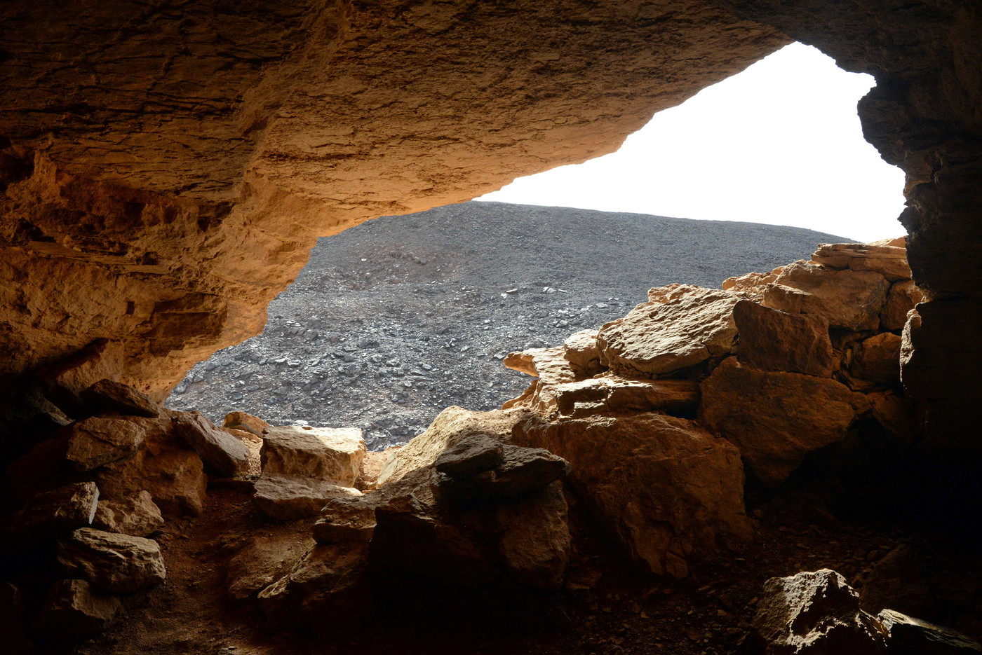 Wyjście z kopalni piaskowca