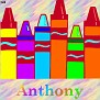 Crayons at schoolAnthony