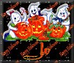 3 Ghosts & pumpkinJo