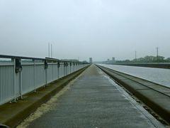 Mittellandkanal am Wasserstraßenkreuz Magdeburg