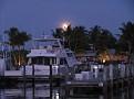 moon over Treasure Cay Marina