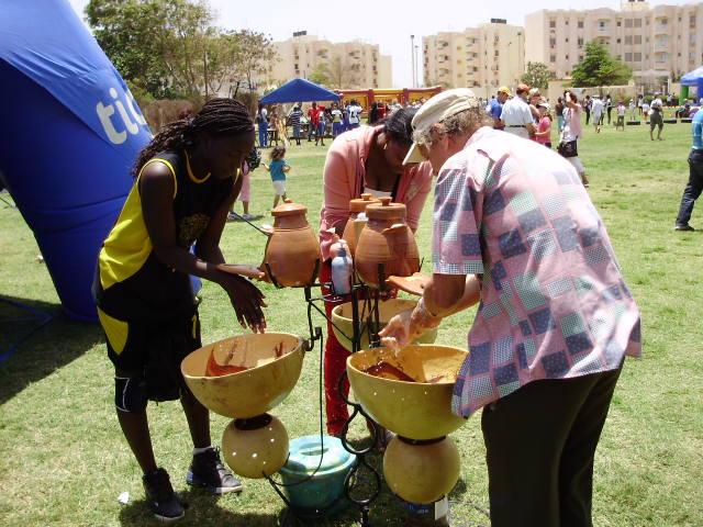 Dr Vanhercke with his REVOLUTIONARY CANACLA Handwashing Fountain!
