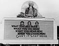 5 - A billboard posted in Oak Ridge, Tennessee, on December 31, 1943. (Ed Westcott/DOE)