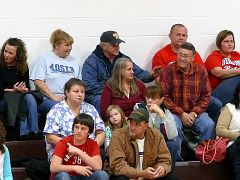 572 - Nancy Sexton and Ricky Lawson at a Basketball game.