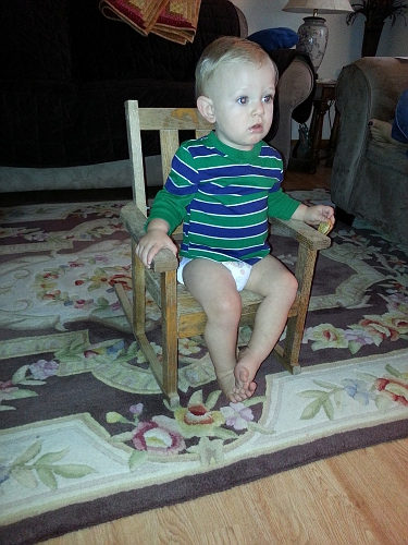 Silas watching TV-1
