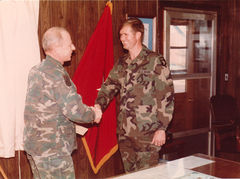 General Beckwith? reeniisted me at Fort Campbell, KY