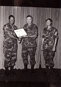 1st Inf Bde Commander, Post Commander, and E. Ray Austin at Ft Campbell KY