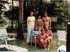 Mildred, Pat, Billy, Jamie, E. Ray, and Junior