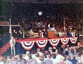 President Gerald Ford making a speech during his campaign in Lubbock, Texas, 1976