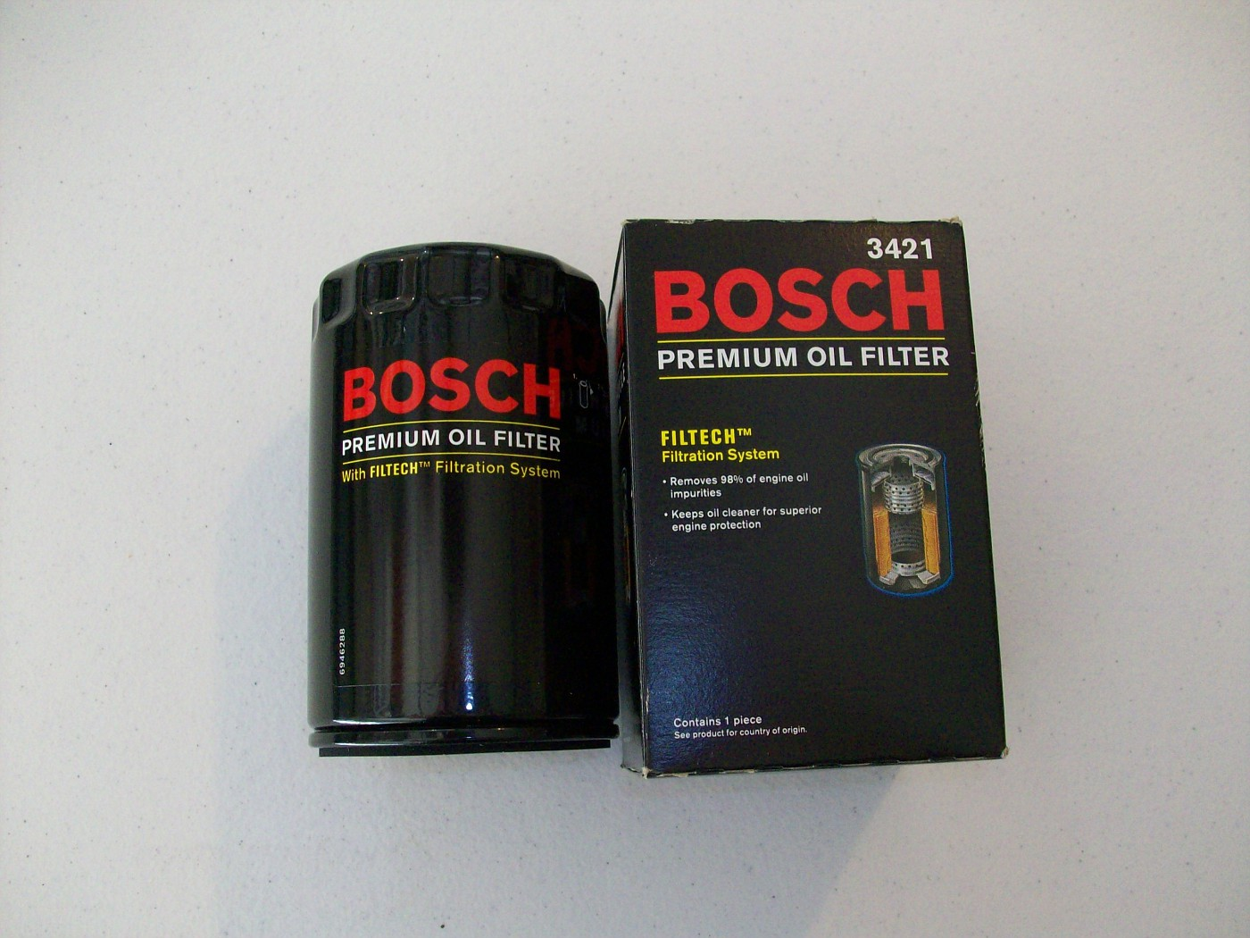 SOLD $10 2 Oil Filters - Bosch 3421