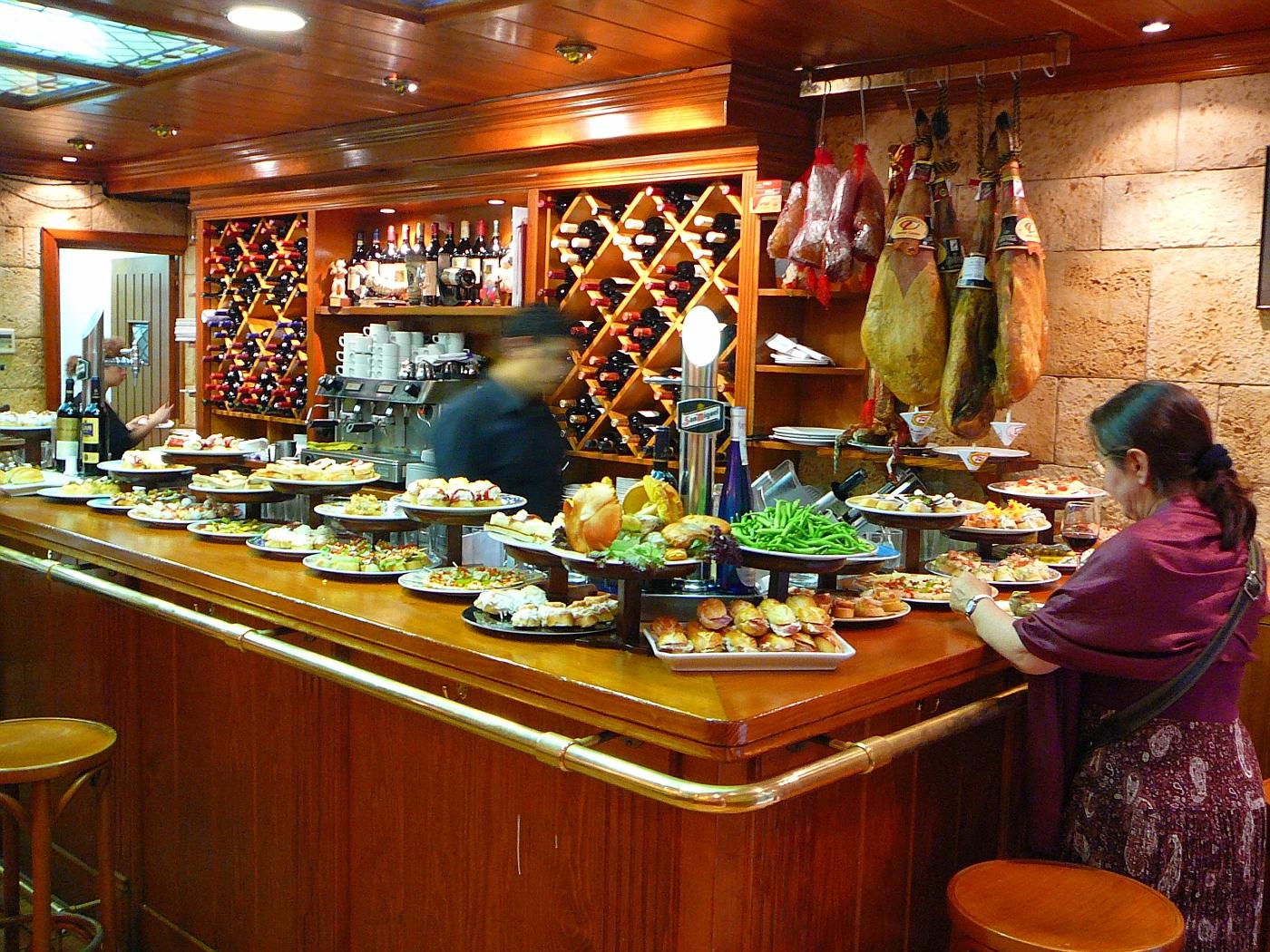 Tapas in San Sabastian - Typical Pub