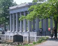 colonade that houses Plymouth Rock