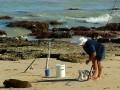 Beach fishing - setting up
