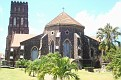 The rear of a famous church in Basseterre.