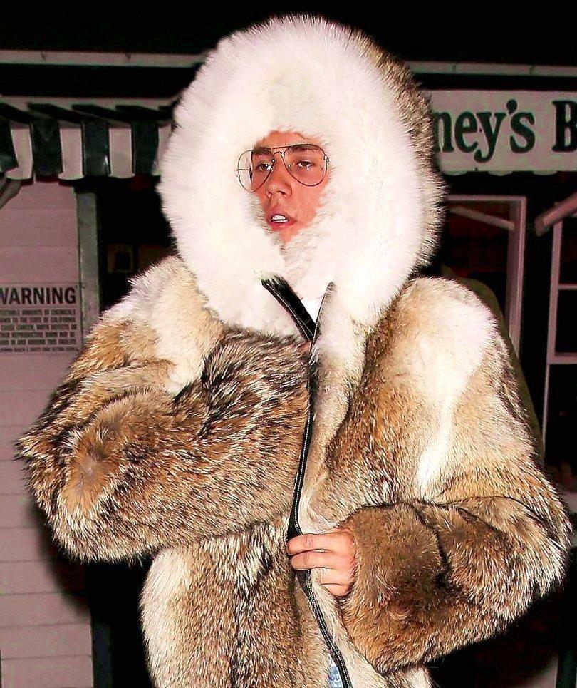 cute boy in a lovely fur
