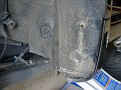 detritus under wheel well liner