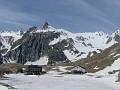 IM000486 Across the still frozen Summit Lake to Hotel Italia
