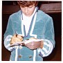 Joe Correro, Jr., of Paul Revere & the Raiders signing autograph, Amarillo, Texas, OCT 1967. Photo courtesy of D'Ann Scroggins.