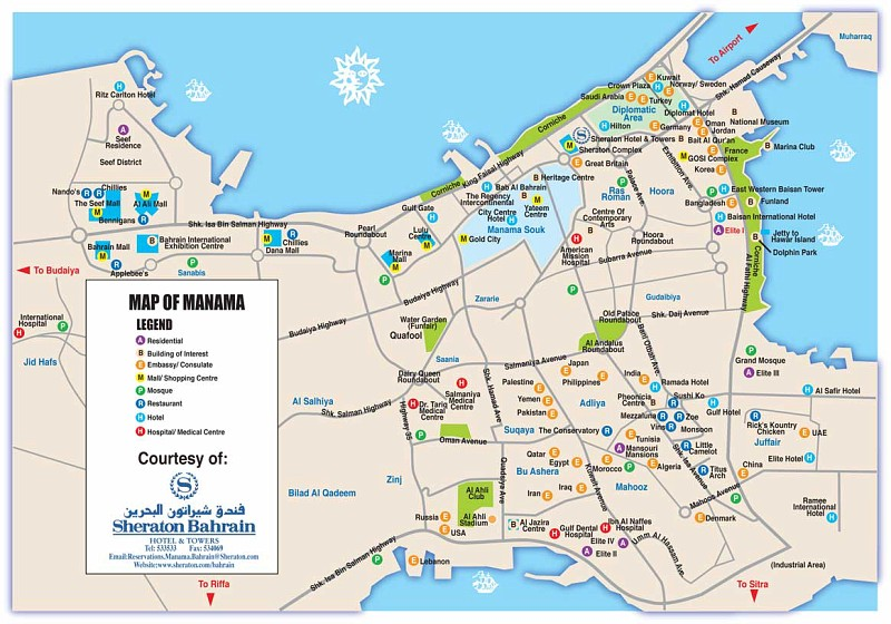 Manama Map | Maps Manama Map