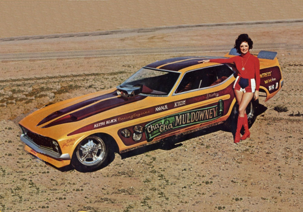 Photo Shirley Muldowney Mustang Drusa 572 71 73 Mustang