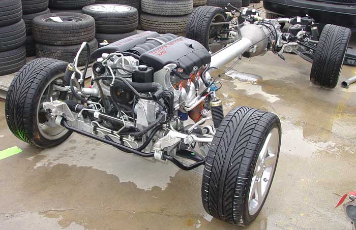 Photo 50196jcorvettechassis05 Corvette C6 Bare Chassis