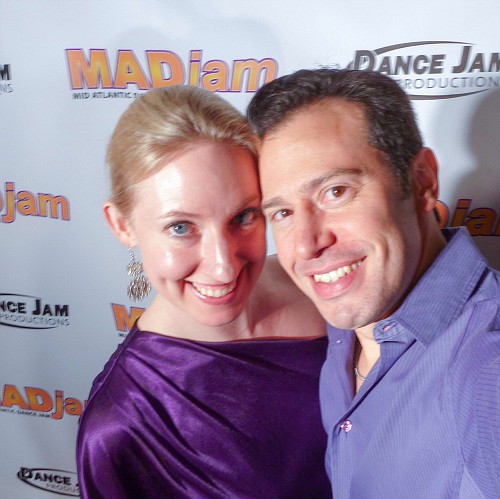 Erik and Anna at MADjam (West Coast Swing and Hustle event)