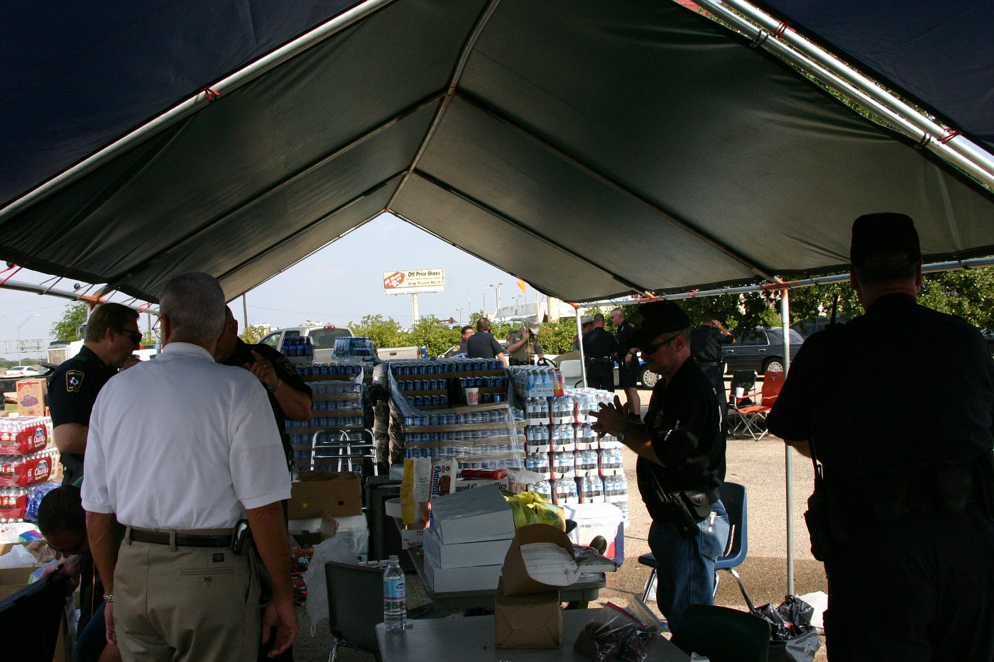 Staff shelter at command post