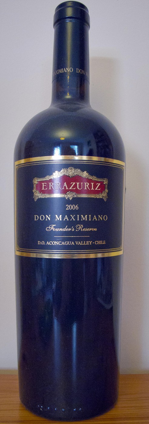 2006 Errazuriz Founder's Reserve Don Maximiano