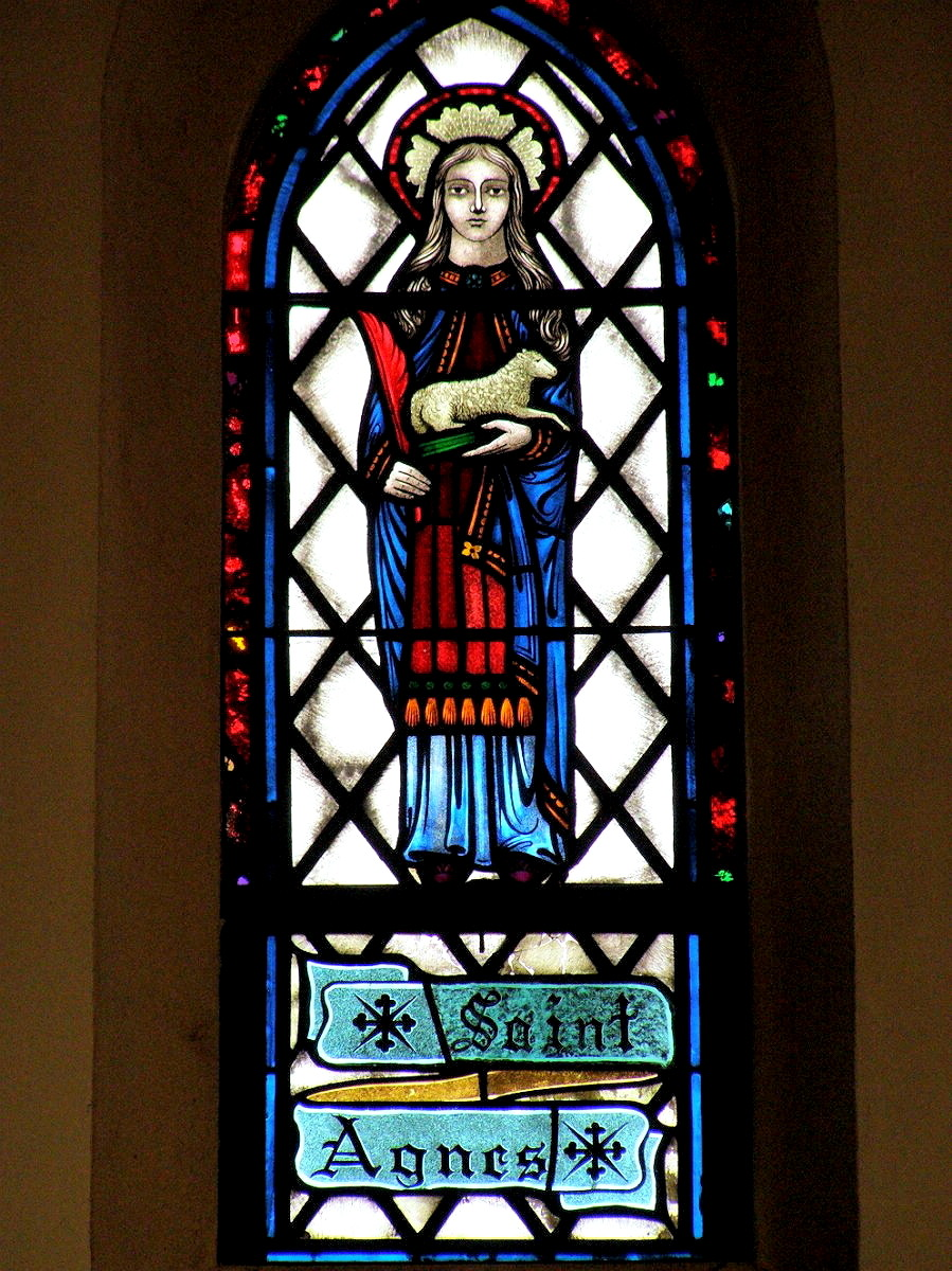 OLD SAYBROOK - ST JOHN CHURCH - STAINED GLASS - SAINTS - 18