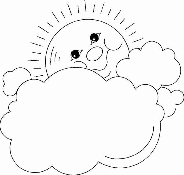 kids coloring pages of clouds - photo#34