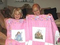^i^ Chloe & sister with her quilt