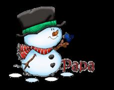 Papa - Snowman&Bird