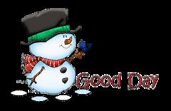 Good Day - Snowman&Bird