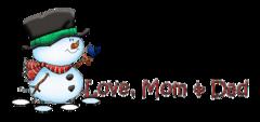 Love, Mom & Dad - Snowman&Bird