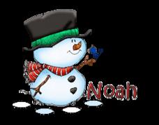 Noah - Snowman&Bird