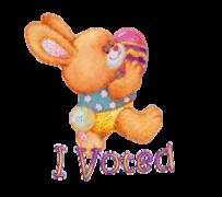 I Voted - EasterBunnyWithEgg16