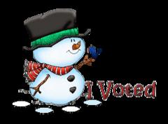 I Voted - Snowman&Bird