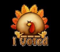 I Voted - ThanksgivingCuteTurkey