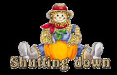 Shutting down - AutumnScarecrowSitting