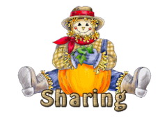 Sharing - AutumnScarecrowSitting