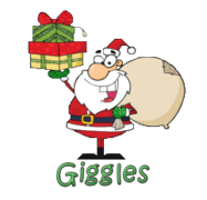 Giggles - SantaDeliveringGifts
