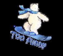 Too Funny - SnowboardingPolarBear