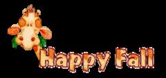 Happy Fall - CuteGiraffe