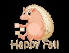 Happy Fall - CutePorcupine